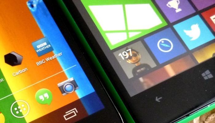 Moto G 2015 frente al Lumia 640 y Lumia 735