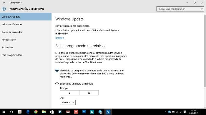 Segunda actualización de Windows 10