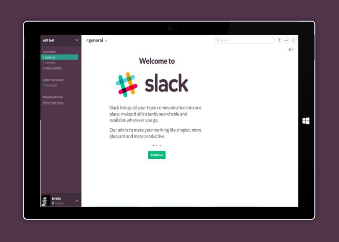 Slack 1.2 más cerca de Windows 10