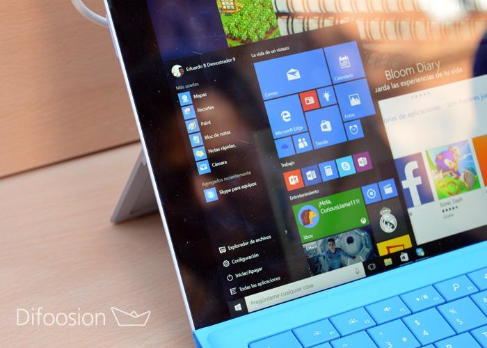 Start Menu Windows 10 inicio