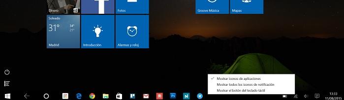 Windows 10 en tablet