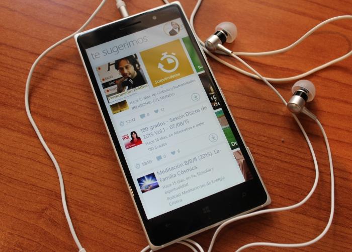 Aplicación de iVoox para escuchar podcasts