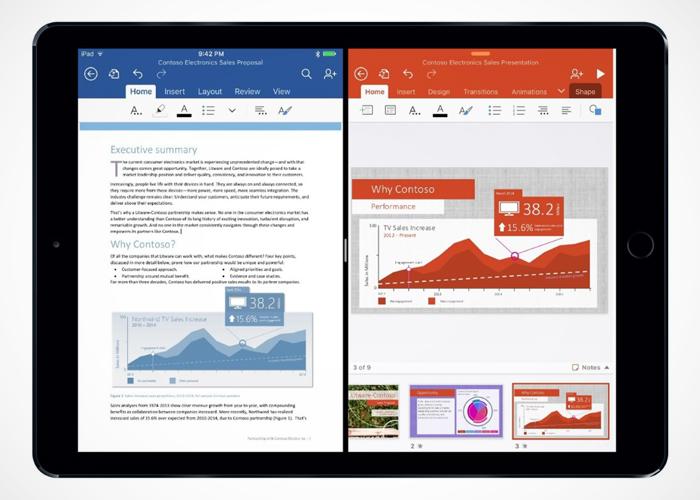 Office 2016 iPad Pro de Apple