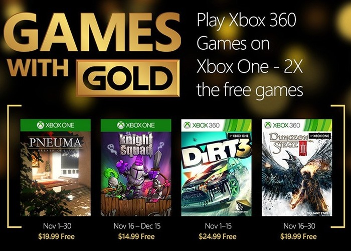 Games with Gold noviembre 2015