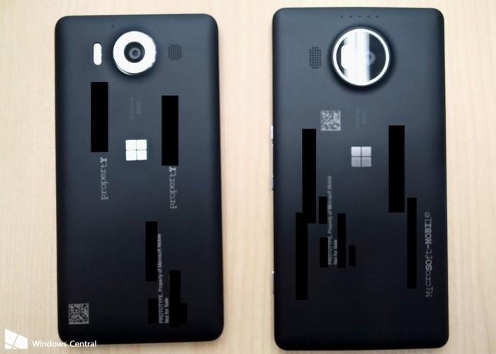 Lumia 950 y 950 XL  por detras cabecera