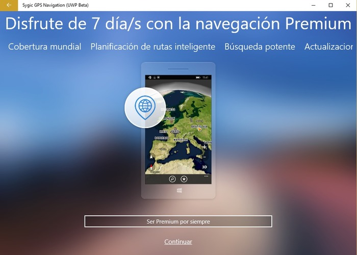 Sygic GPS Navigation Beta 1