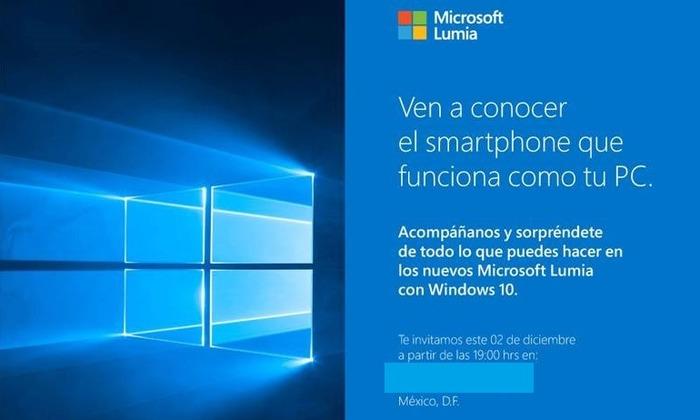 Lumia 950 y 950 xl presentacion Mexico