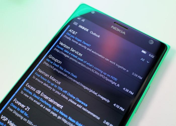 Outlook Windows 10 Mobile
