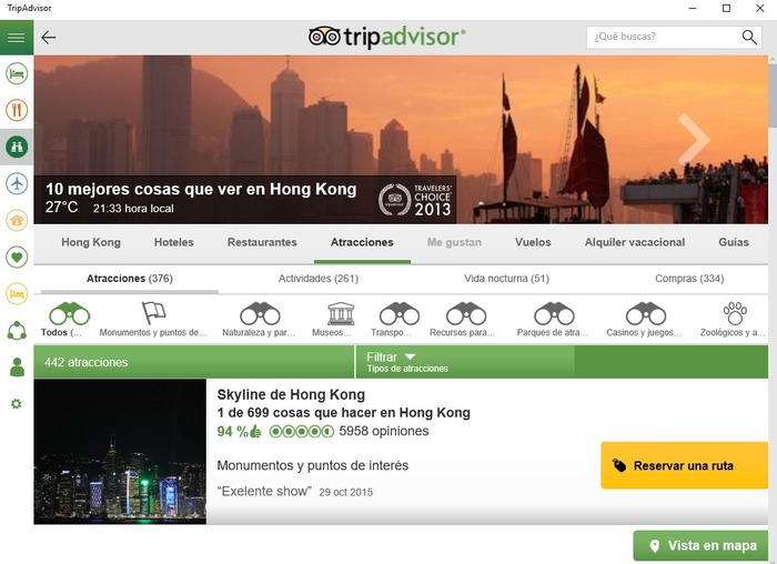TripAdvisor Hotels Flights Restaurants captura