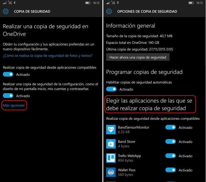 copia seguridad windows 10 mobile