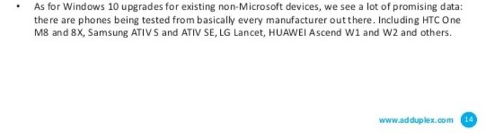 AdDuplex Samsung ATIV S Windows 10 Mobile