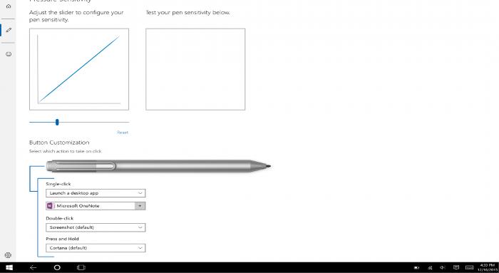 Aplicación Surface, personalizar funciones del botón del Surface Pen