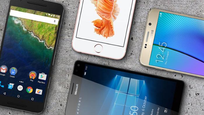 Lumia 950, Nexus 6P, iPhone 6s, Galaxy Note 5 - Android, iOS, Windows 10 Mobile