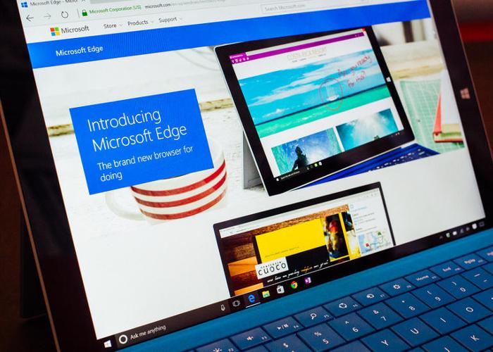 Microsoft Edge en Surface 3