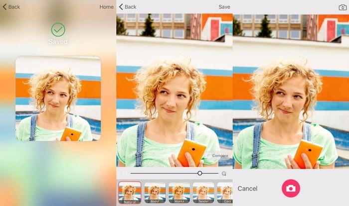 Microsoft Selfie captura