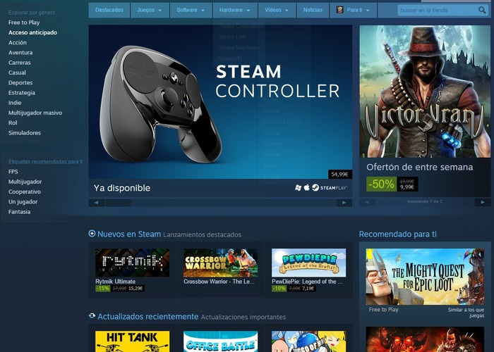 Steam cabecera