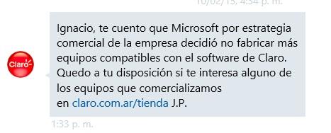 claro windows phone argentina