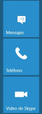 mensajes llamada video skype windows 10