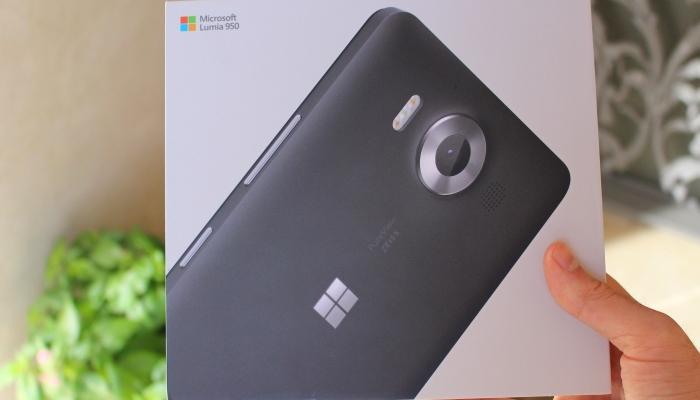Empaquetado Microsoft Lumia 950