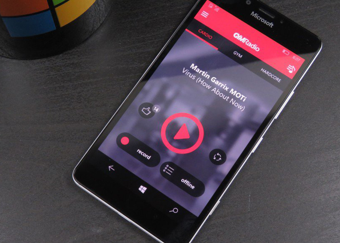 GYM Radio app