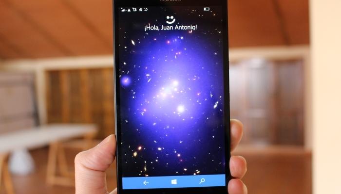 Escáner de iris en el Lumia 950 XL