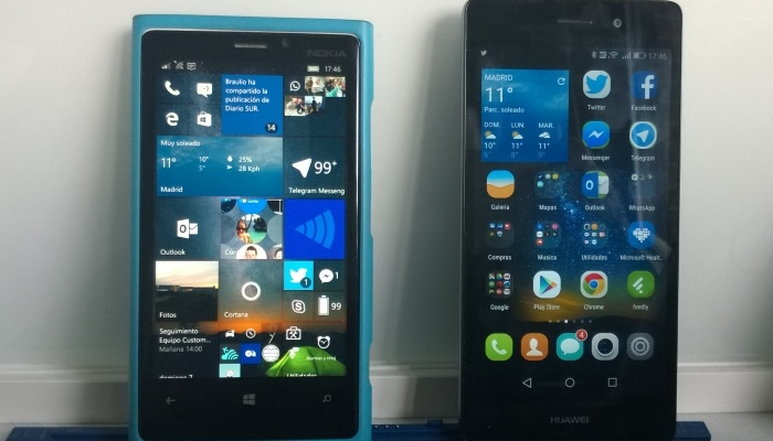 microsoft windows 10 mobile android