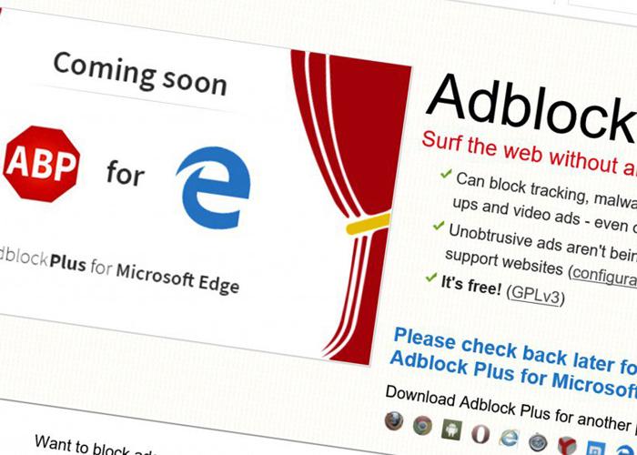 Adblock Plus Edge