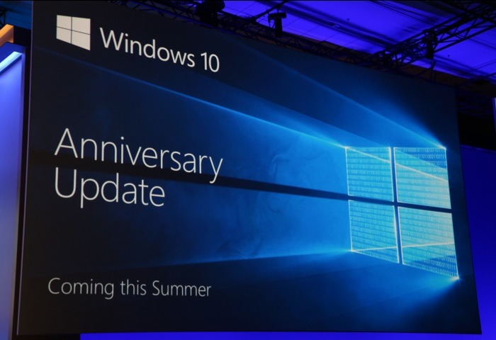 Build 2016 Windows 10 update anniversary