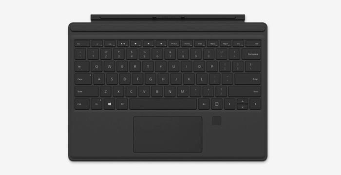 Funda con teclado para Surface Pro 4 con identificador