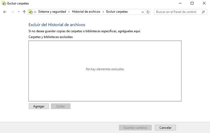 Historial de archivos Windows 10-2