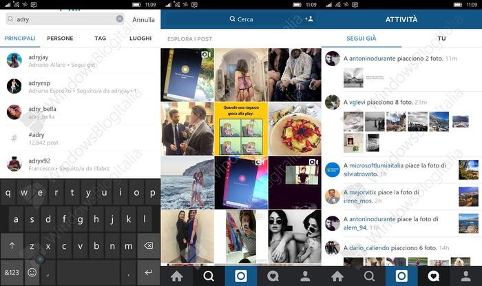 Instagram Windows 10 Mobile Beta 1