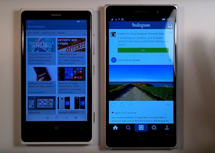 Instagram Windows 10 Mobile Beta cabecera