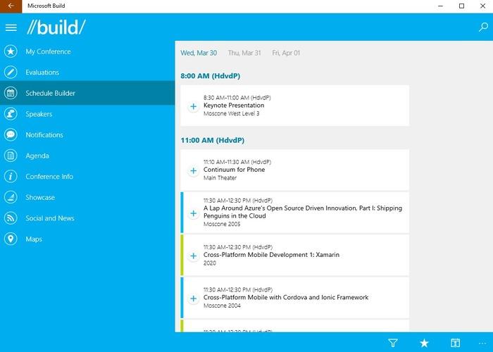 Microsoft Build app cabecera