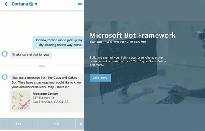 Skype Cortana Microsoft Bot Framework Build 2016