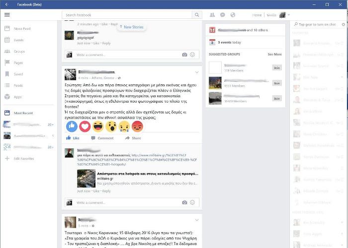 reacciones de facebook en Windows 10 para pc escritorio