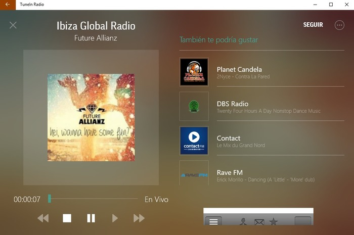 TuneIn Radio captura