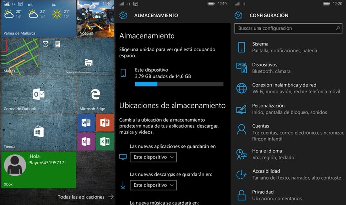 Windows 10 Mobile ATIV S capturas