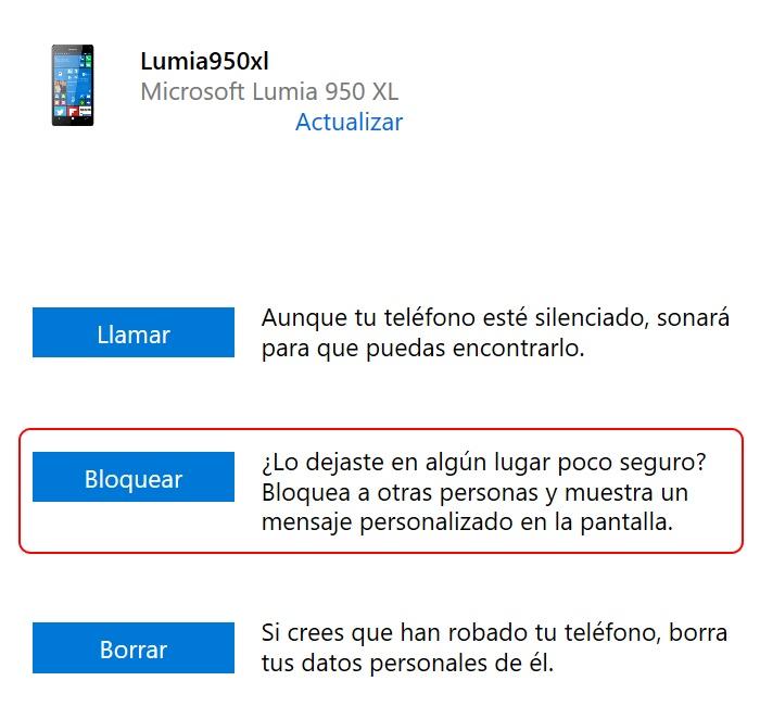 bloquear lumia