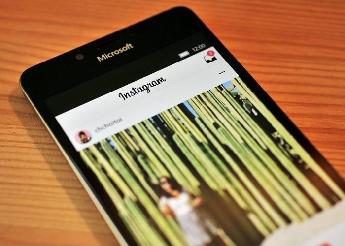 Instagram Windows 10 Mobile nueva interfaz