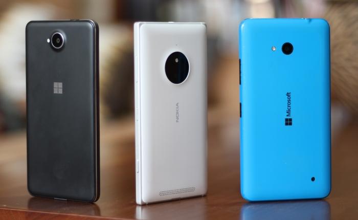 Lumia 650, Lumia 830 y Lumia 640