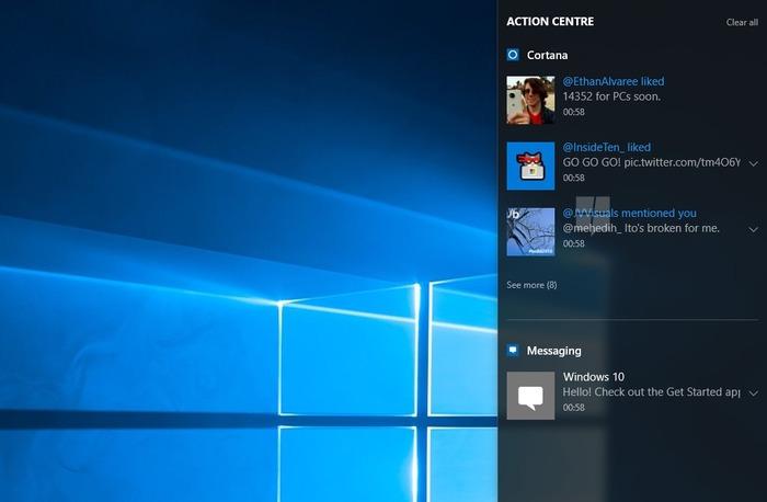 Notificaciones sincronizadas windows 10
