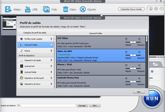 WinX HD Video Converter Deluxe captura 3