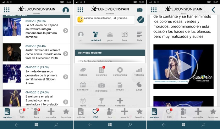 eurovision spain windows phone