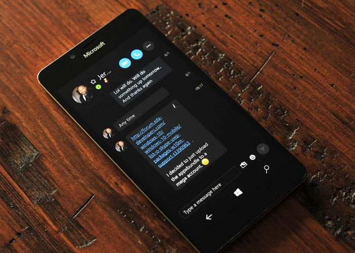 Skype Preview Windows® 10(diez) Mobile