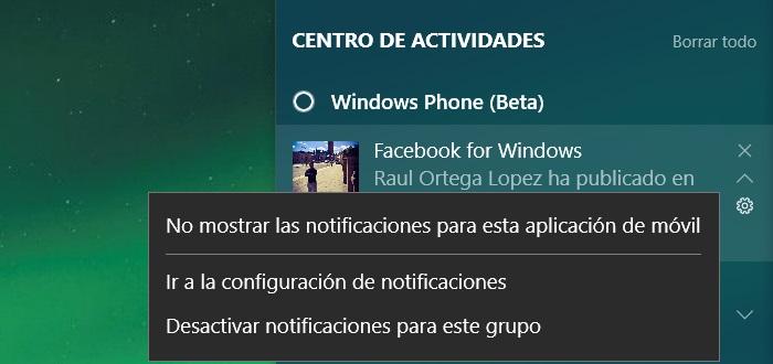 configurar sincronizacion notificaciones windows 10 pc