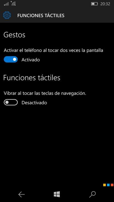doble toque lumia 950