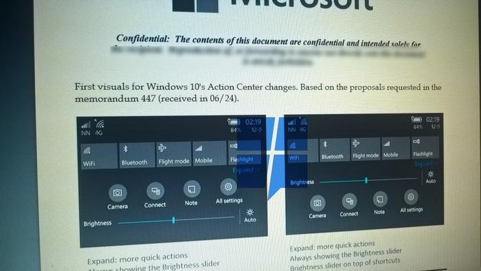nuevo centro accion windows 10 mobile 2