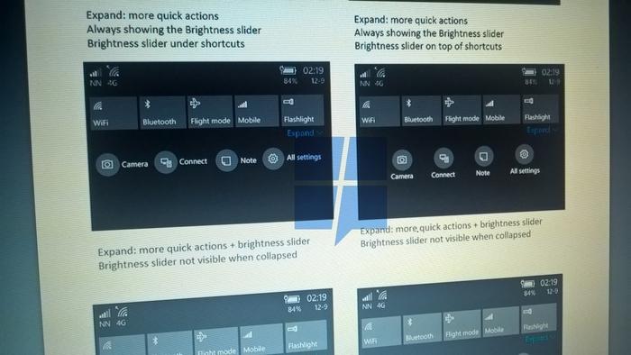 nuevo centro accion windows 10 mobile