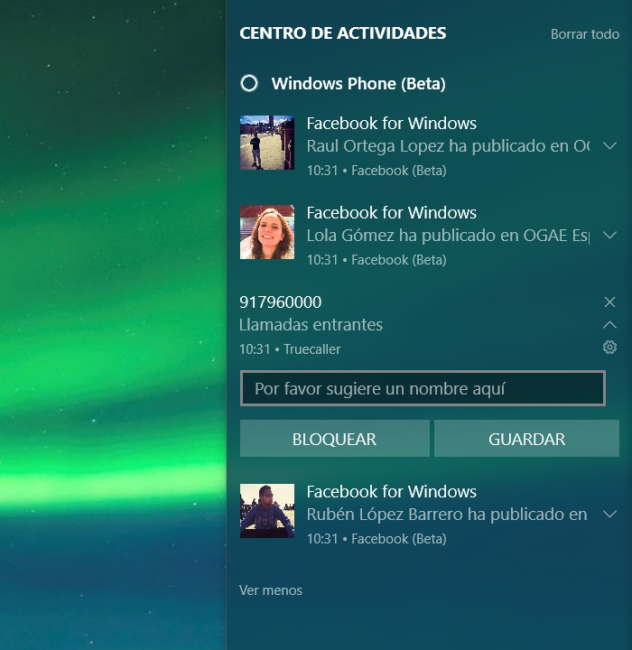 sincronizar notificaciones windows 10 pc anniversary update