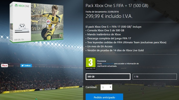 Xbox One S FIFA